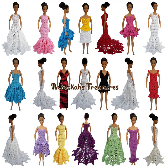 Ravelry Happily Ever After Fashion Dolls Pattern By Rebeckah Ferger