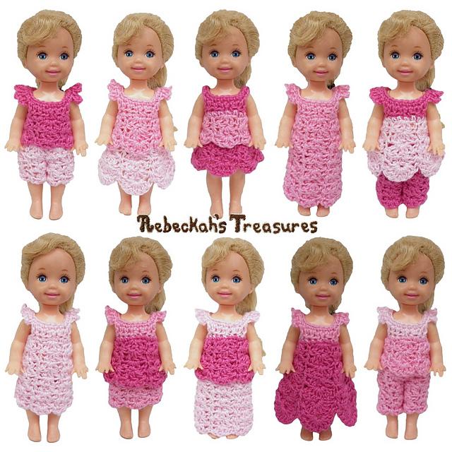 Ravelry Pretty In Pink Children Fashion Dolls Pattern By Rebeckah