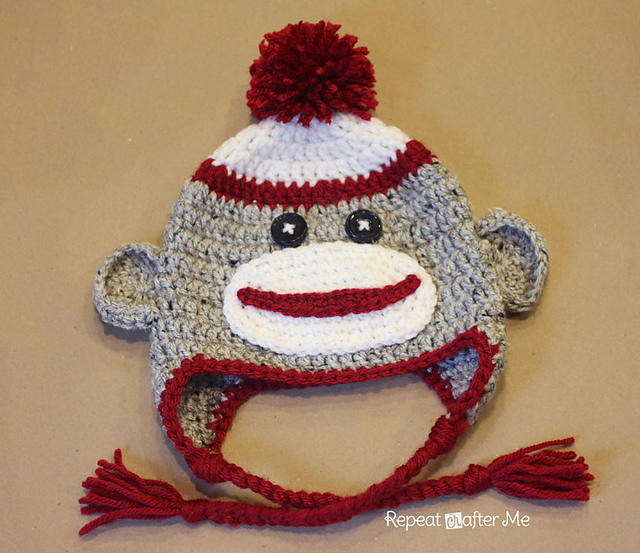 Ravelry Crochet Sock Monkey Hat Pattern By Sarah Zimmerman