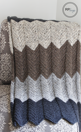 Ravelry Neutral Chevron Blanket Pattern By Krista Cagle