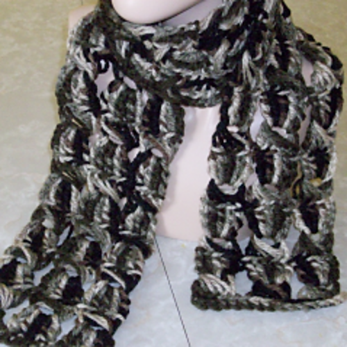 Ravelry Broomstick Lace Chunky Crochet Scarf Pattern By Rhelenas