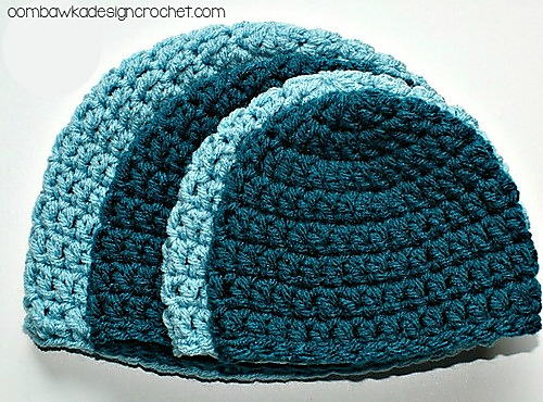 Ravelry Simple Double Crochet Hat Pattern By Rhondda Mol Oombawka