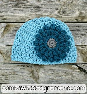 Ravelry  Basic Double Crochet Beanie pattern by Rhondda Mol ... 64ebbdef2f2