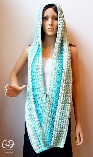 Ravelry Faerie Mist Hooded Scarf Pattern By Rhondda Mol Oombawka Enchanting Free Hooded Scarf Crochet Pattern