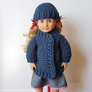 Ravelry Coat And Hat For Dolly Pattern By Rhondda Mol Oombawka Design