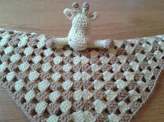 Ravelry: Giraffe Baby Lovey Blankie pattern by Peach. Unicorn