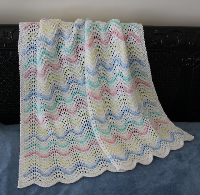 Ravelry Feather Fan Lace Baby Blanket Pattern By Catherine Sims