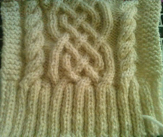 4babba43f824 Ravelry  Celtic Cabled scarf pattern by Rose Hernandez