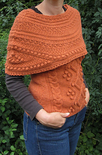 ee375c39152 Ravelry  Bronze Age Capelet pattern by Sally Pointer  Wicked Woollens