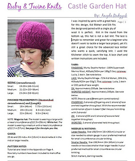 Castle Garden Hat pattern by Angela Radzyuk