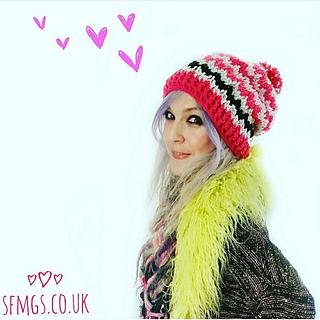 Ravelry  Spike Stitch Beanie Crochet Bobble Hat pattern by Miki Hemphill 6455a717b81