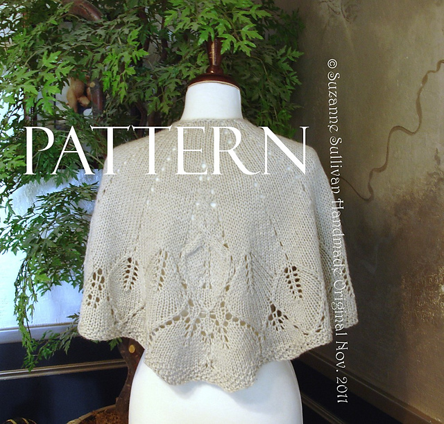 Ravelry: Country Walk Cape or Shawl pattern by Suzanne Sullivan