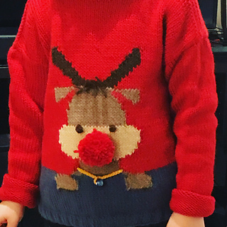 Ravelry  s32-18 Christmas KAL 2018 Red Nose Jumper Kids pattern ... 2cb28d41a8