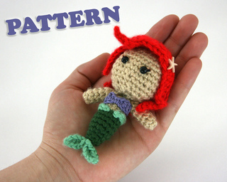 Free Crochet Amigurumi Mermaid Pattern : Ravelry ariel the little mermaid pattern amigurumi doll pattern