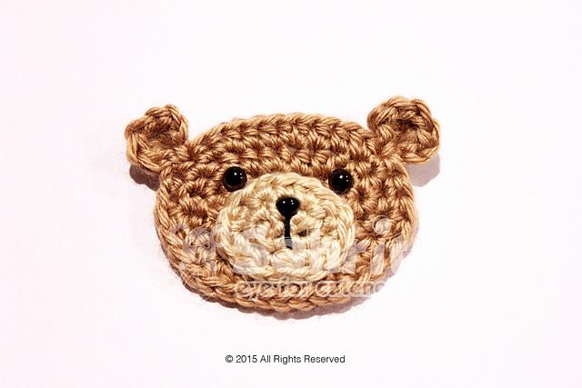 Teddy bear holiday face applique