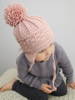 Ravelry  La Vie en Rose Earflap Hat pattern by Kirsten Holloway 35a00305bbf7