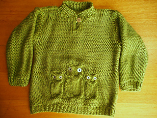 Free Knitting Pattern For Owl Sweater : Ravelry: Owl Sweater and Hat pattern by Naturally Yarns