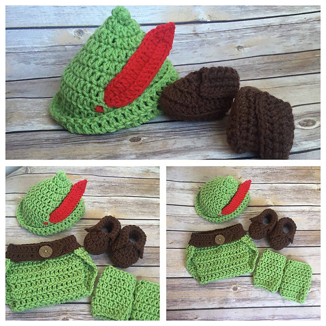 Ravelry peter pan robin hood costume pattern by knitty momma dt1010fo