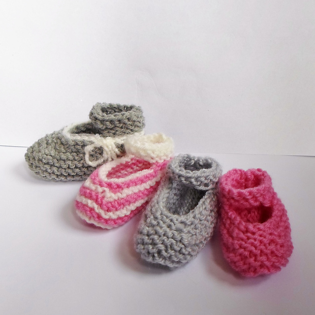 Ravelry Easiest Fastest Baby Mary Jane Booties Pattern By A La