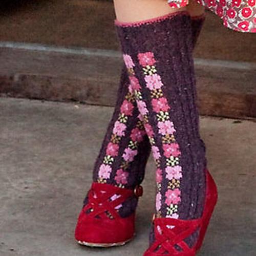 Ravelry Intarsia Flower Socks Pattern By Sasha Kagan