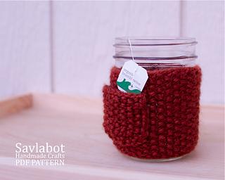 Ravelry: Knit Mason Jar Cozy pattern by Savla Levi