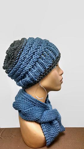Ravelry Loom Knit Chunky Beanie Pattern By Scarfanatic1