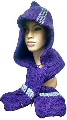 Ravelry Loom Knit Scoodie Pattern By Scarfanatic1