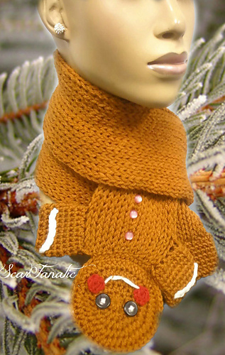Ravelry Gingerbread Man Scarf Loom Knit Pattern By Scarfanatic1
