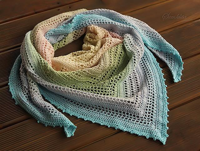Ravelry Summer Morning Pattern By Yulia Tkachenko Gorgeous Crochet Shawl Pattern