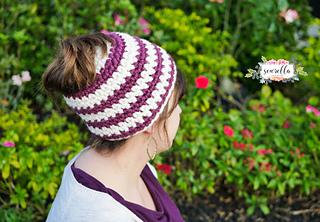 Ravelry  Crochet 1 Hour Messy Bun Beanie pattern by Ashleigh Kiser ee3836072cc