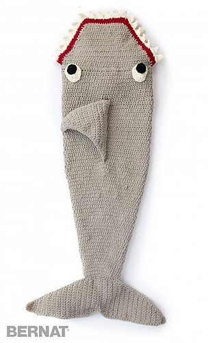 Ravelry Fintastic Shark Snuggle Sack Pattern By