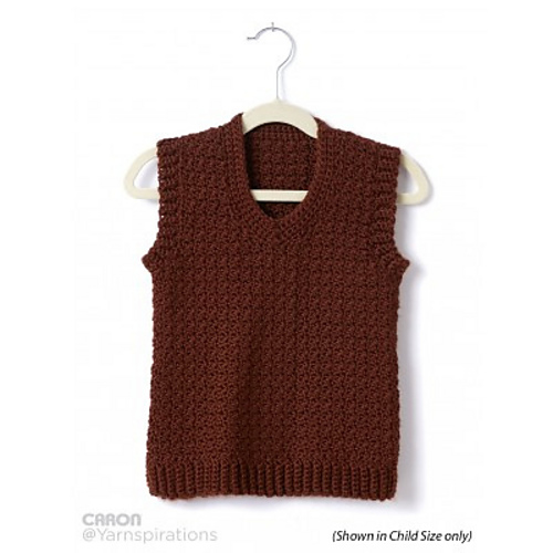 Ravelry Adult Crochet V Neck Vest Pattern By Yarnspirations Design