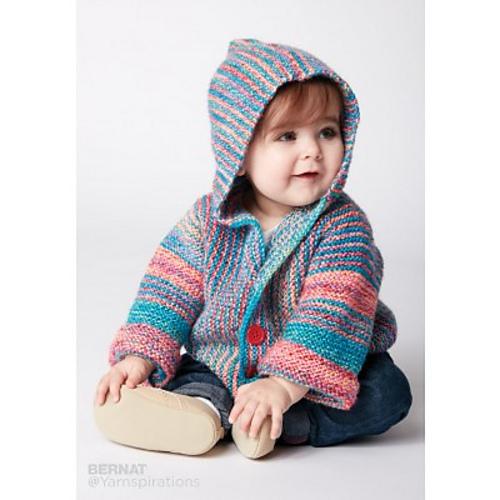 Ravelry Show Your Stripes Jacket Pattern By Bernat Design Studio