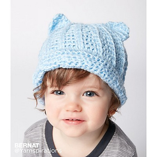 patterns   Spinrite Websites   Yarnspirations.   Baby Crochet Kitty Hat e0a39e4fe3b