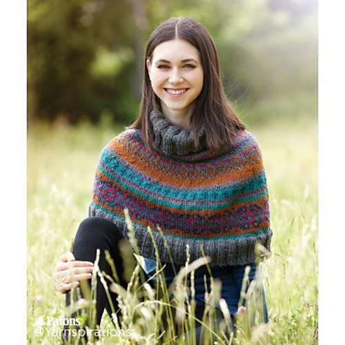 Ravelry: Fair Isle Knit Capelet pattern by Patons