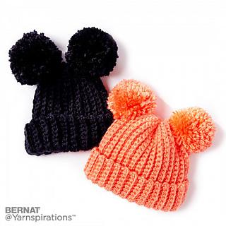 9002f9a1c66 Ravelry  Adorable Pompom Hat pattern by Yarnspirations Design Studio