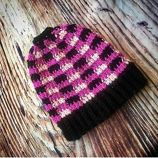 e7f8f3f2a1f58 Ravelry  Plaid Hat 3 Ways pattern by Shari Reid