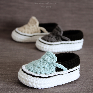 400702688f Ravelry  Vans style baby sneakers pattern by Showroom crochet