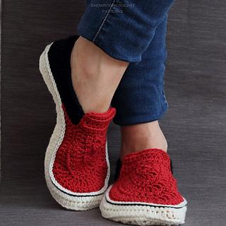 b8aef818921446 Ravelry  Vans style slippers pattern by Showroom crochet