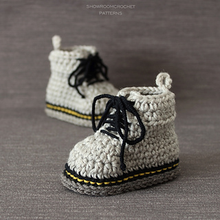 Ravelry Martens Style Booties Pattern By Showroom Crochet