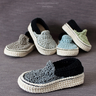 Ravelry Vans Slippers For Toddler Pattern By Showroom Crochet