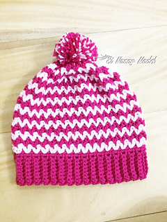 Ravelry  Easy V-stitch Hat pattern by Si Nanay Madel f5645eaf888c