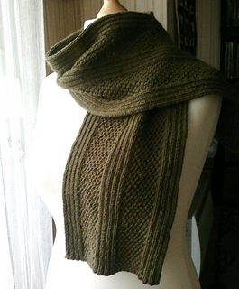 Ravelry Simple Aran Scarf Pattern By Christine Roy