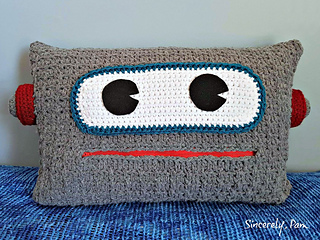 Ravelry Robot Pillow Pattern By Sincerely Pam