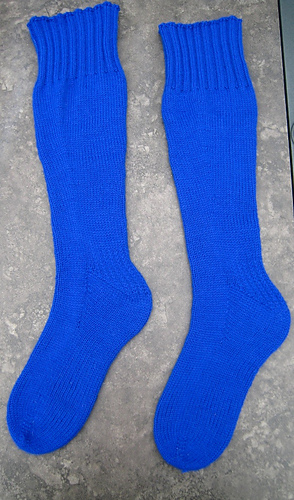 Ravelry Basic Knee High Toe Up Socks Pattern By Leslie Single Stitch