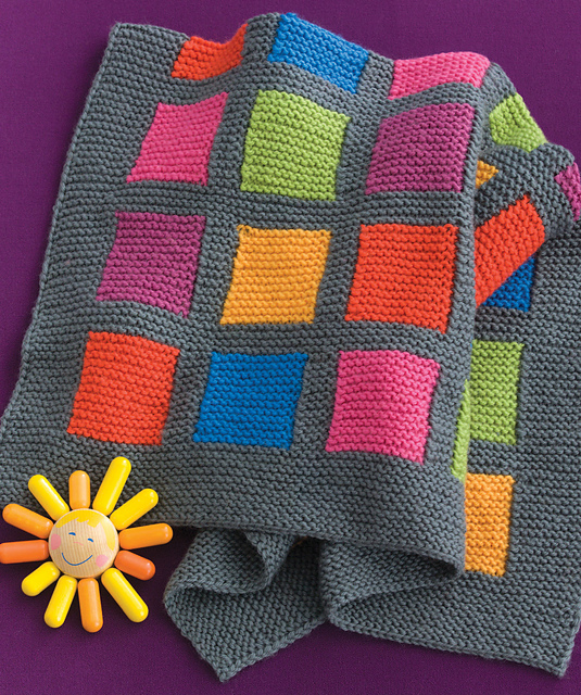Ravelry: Happy Blocks Baby Blanket pattern by Kennita Tully