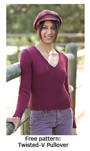 e3378686de68 Ravelry  Twisted-V Pullover pattern by Alice Halbeisen