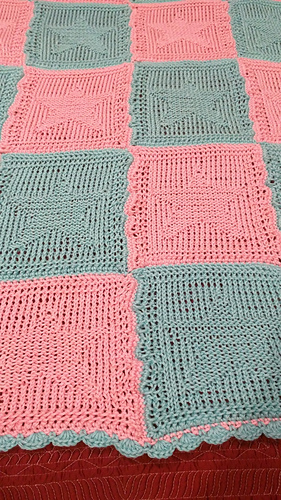 Ravelry Knitted Star Baby Blanket Pattern By Elizabeth Ward
