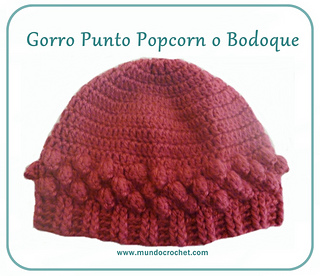 Ravelry  Popcorn stitch crochet hat pattern by Soledad Z e7728f8586c