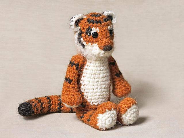 Perfecto Tiger Knitting Pattern Free Molde - Ideas de Patrones de ...